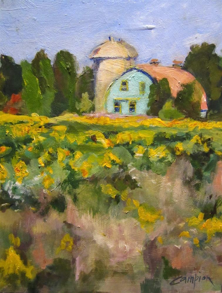 """503 Sunny Farm Near Algoma"" original fine art by Diane Campion"