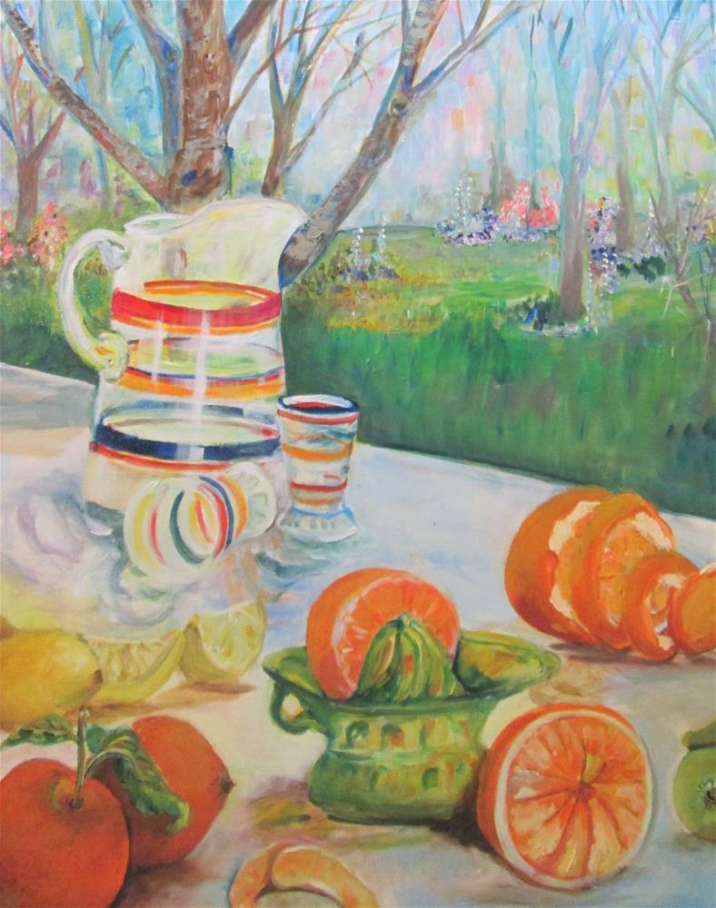 """Picnic"" original fine art by Delilah Smith"