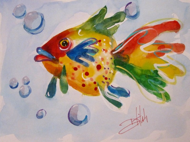 """Tropical Fish"" original fine art by Delilah Smith"