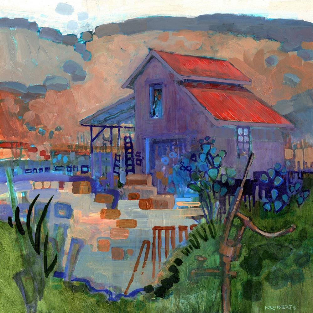 """Borges Ranch Improv"" original fine art by Nancy Roberts"