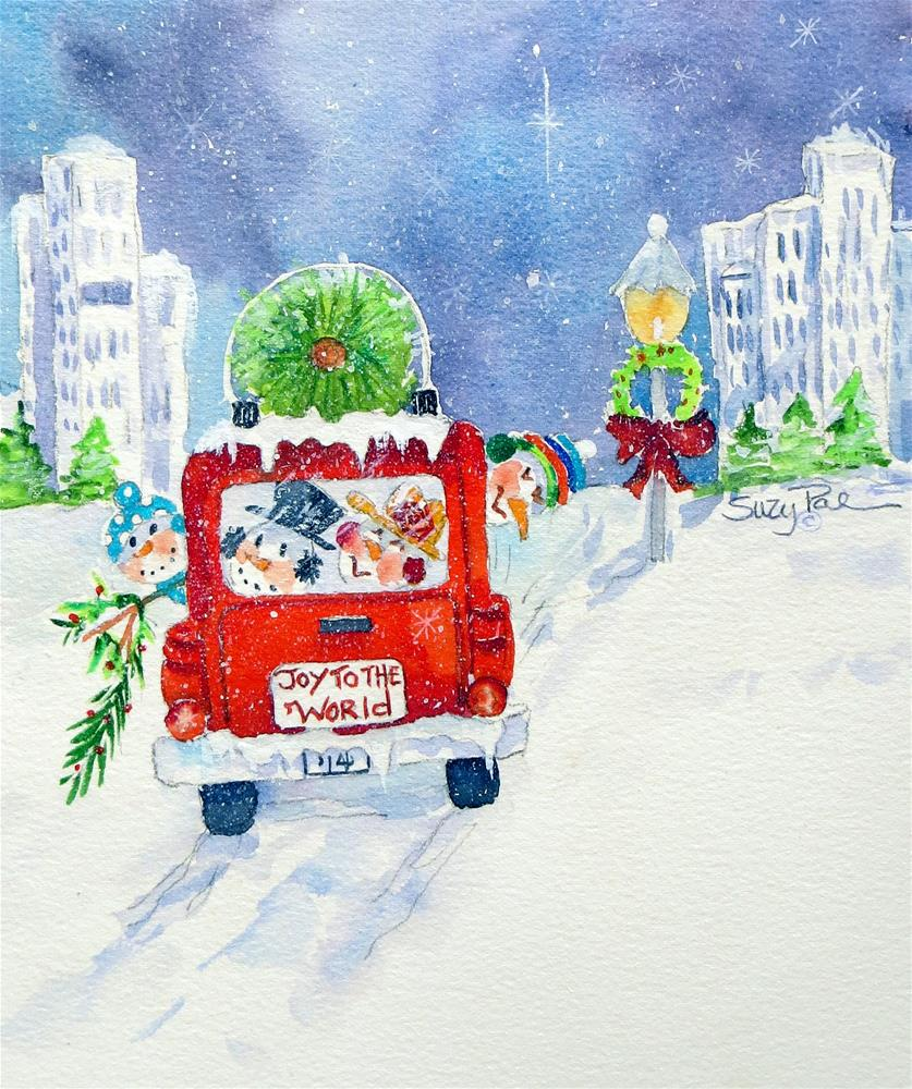 """Joy to the World"" original fine art by Suzy 'Pal' Powell"