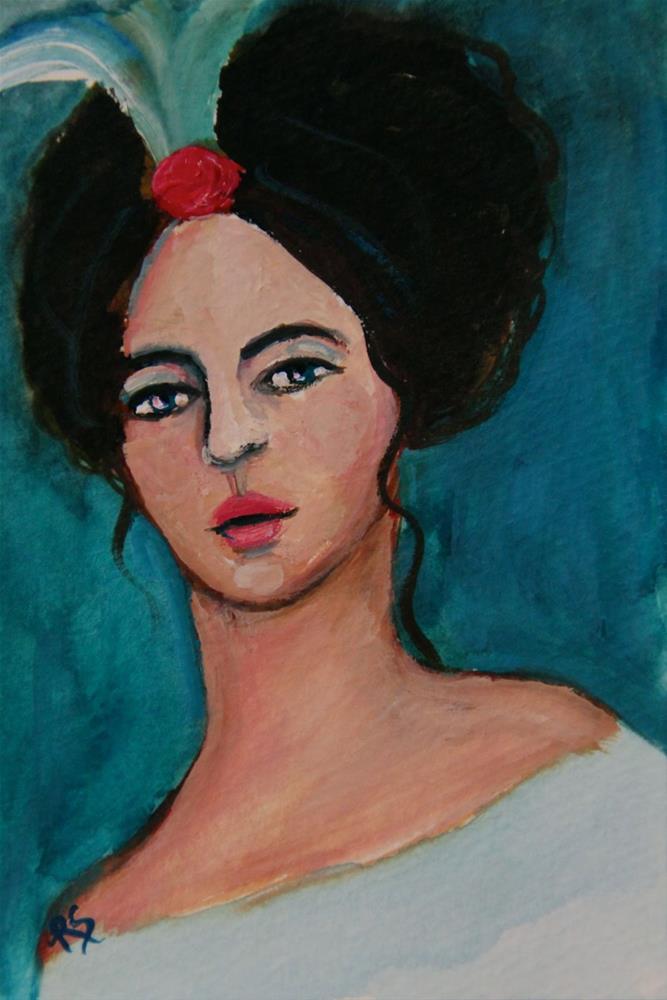 """""""Elizabeth"""" original fine art by Roberta Schmidt ArtcyLucy"""