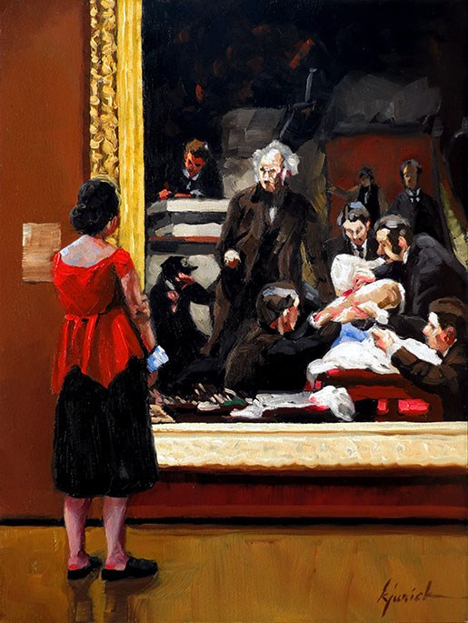 """Eakins"" original fine art by Karin Jurick"