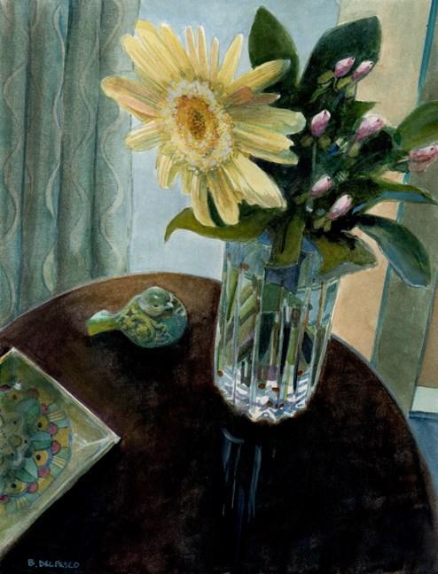 """""""Watercolor Still Life: Vanilla Sun (& Legion papers for intaglio printing)"""" original fine art by Belinda Del Pesco"""