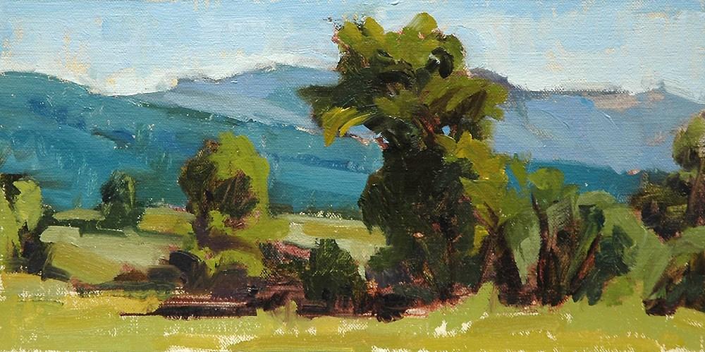 """Landscape 1.28.2016"" original fine art by Miriam Hill"