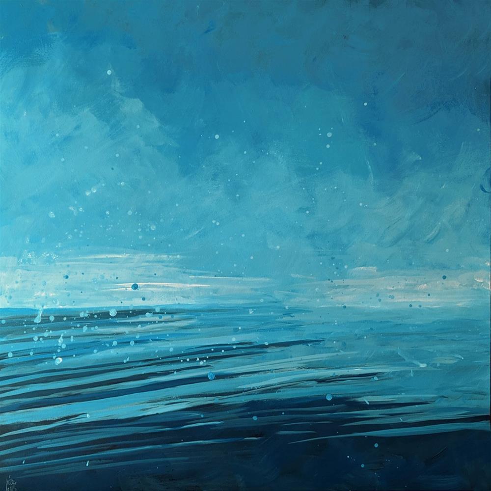"""Colors of Water"" original fine art by Ria Hills"
