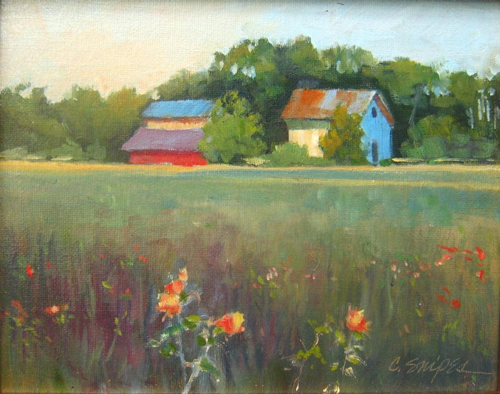 """""""Farm in May"""" original fine art by Connie Snipes"""