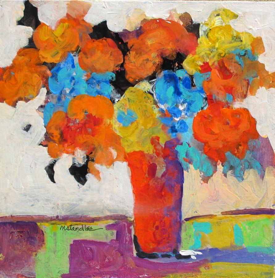 """Christmas Floral 11093"" original fine art by Nancy Standlee"