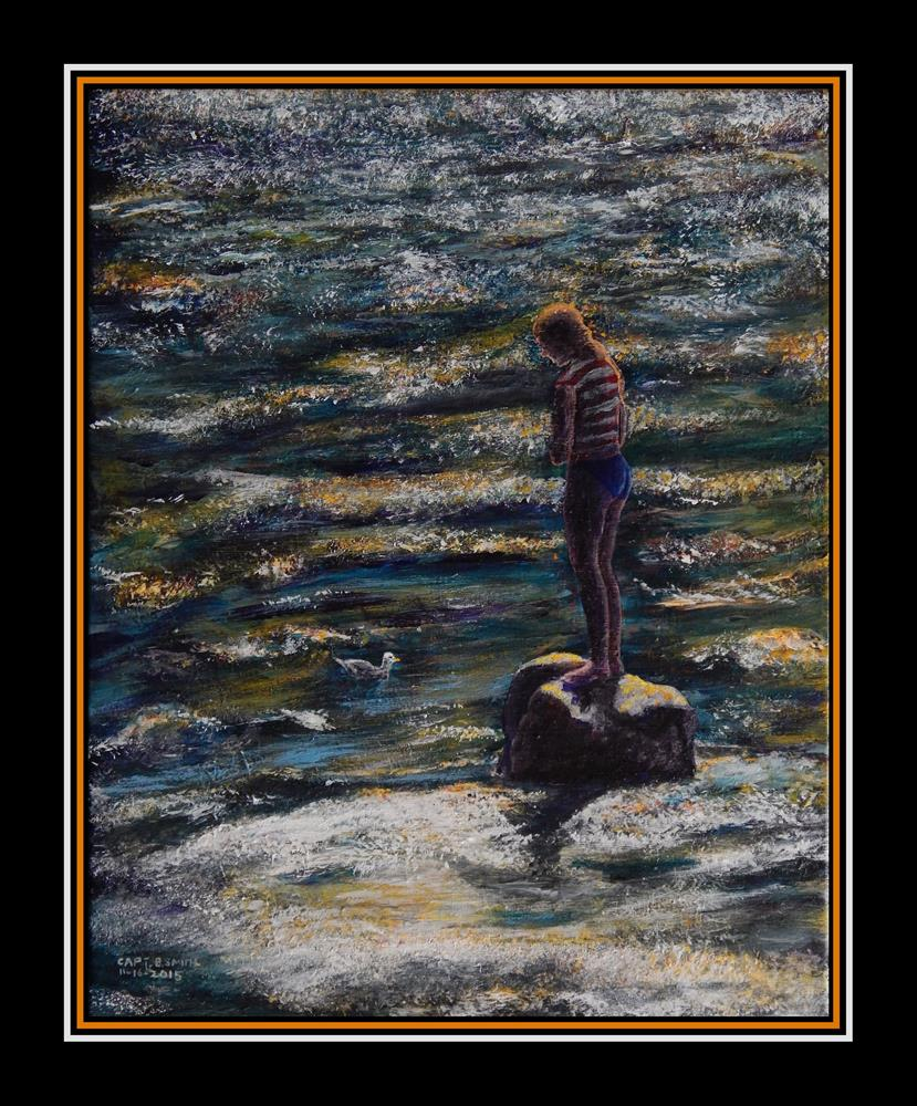 """""""Song to a Seagull"""" original fine art by Captain B Smith"""