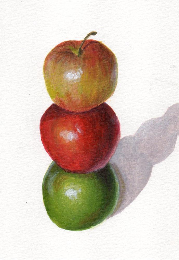 """Stacked"" original fine art by Debbie Shirley"