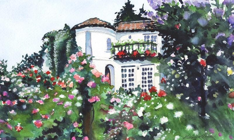 """""""Rose World"""" original fine art by Mariko Irie"""