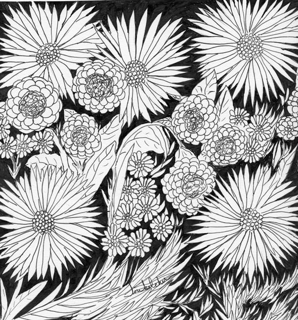 """""""Flowers 5"""" original fine art by Lou Belcher"""