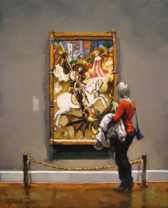 """""""What a Saint"""" original fine art by Karin Jurick"""