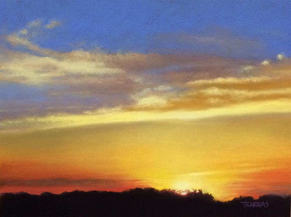 """My Sisters Sunset"" original fine art by Christina Karras"