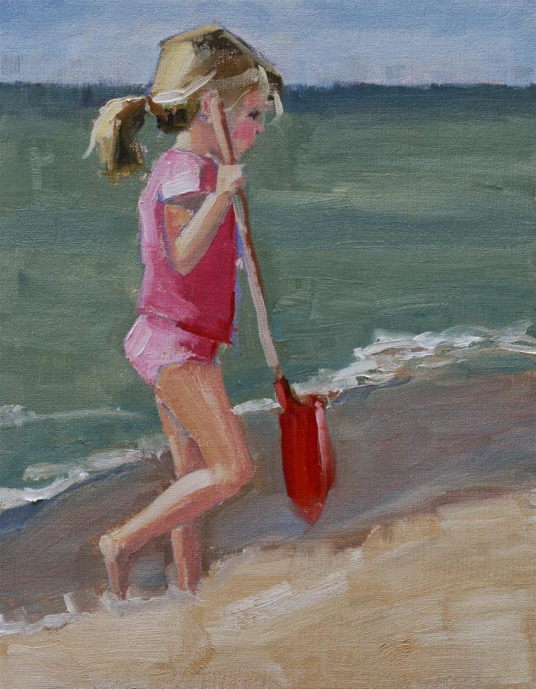 """digging it"" original fine art by Carol Carmichael"