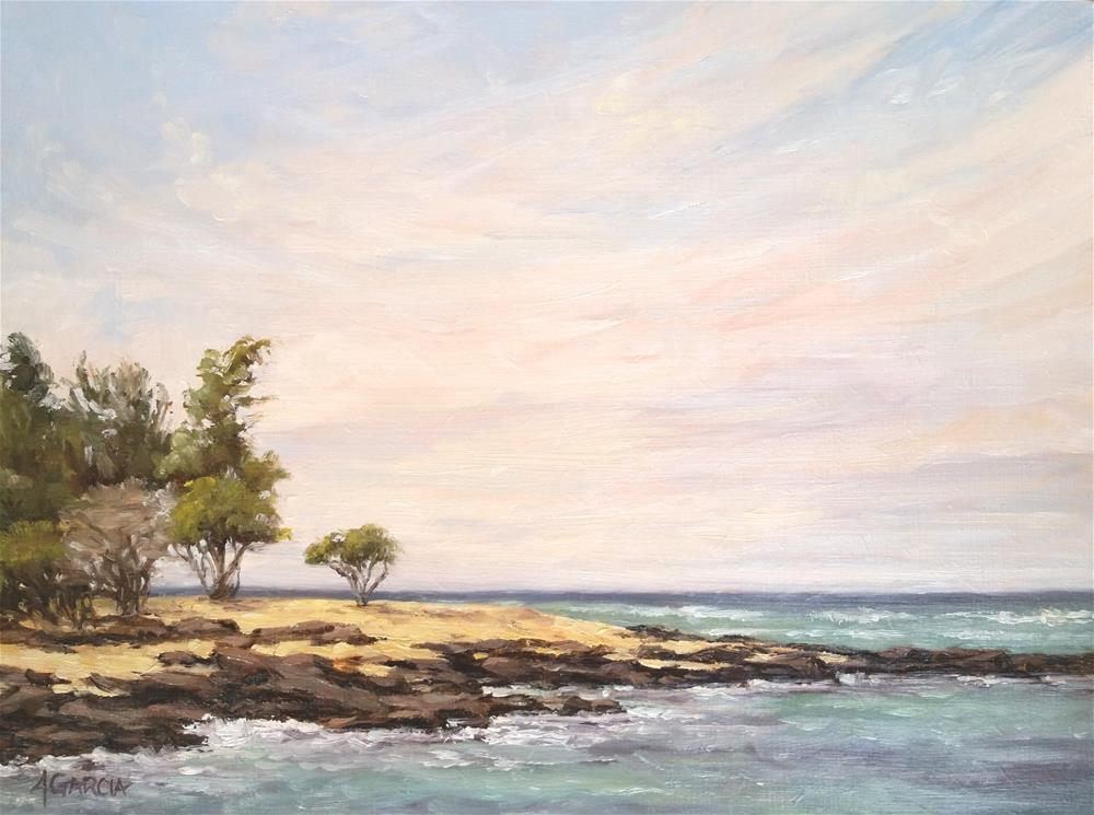 """Morning Sky"" original fine art by Jeannie Garcia"