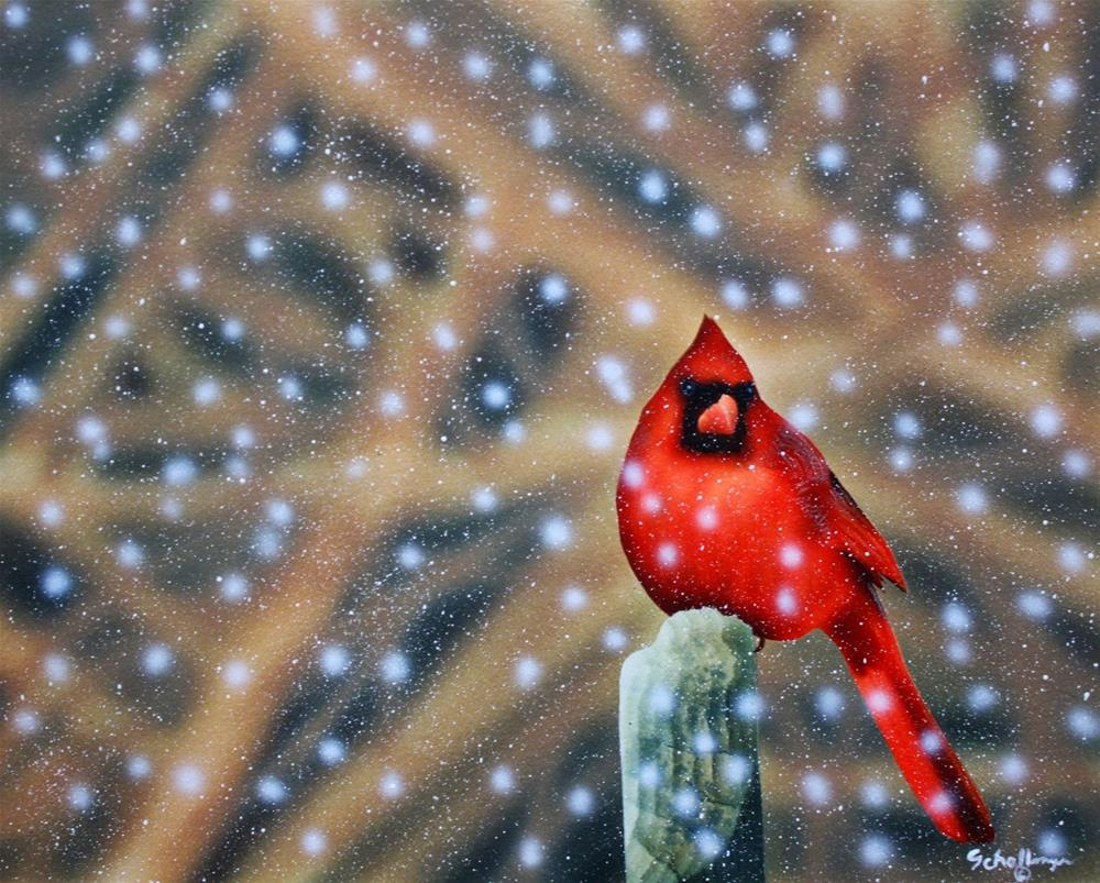 """""""Chilly Roost"""" original fine art by Fred Schollmeyer"""