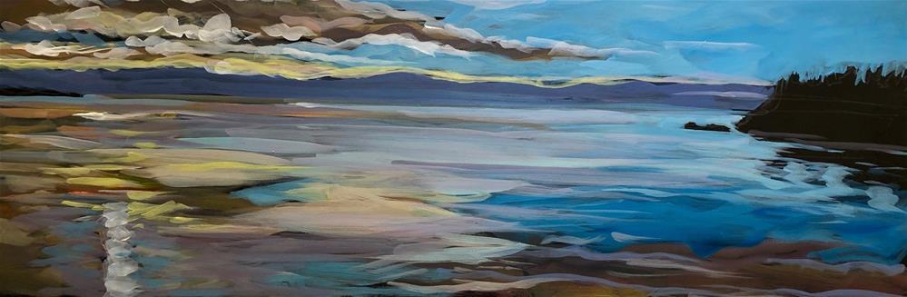 """""""Spring Morning on the Lake"""" original fine art by Kat Corrigan"""