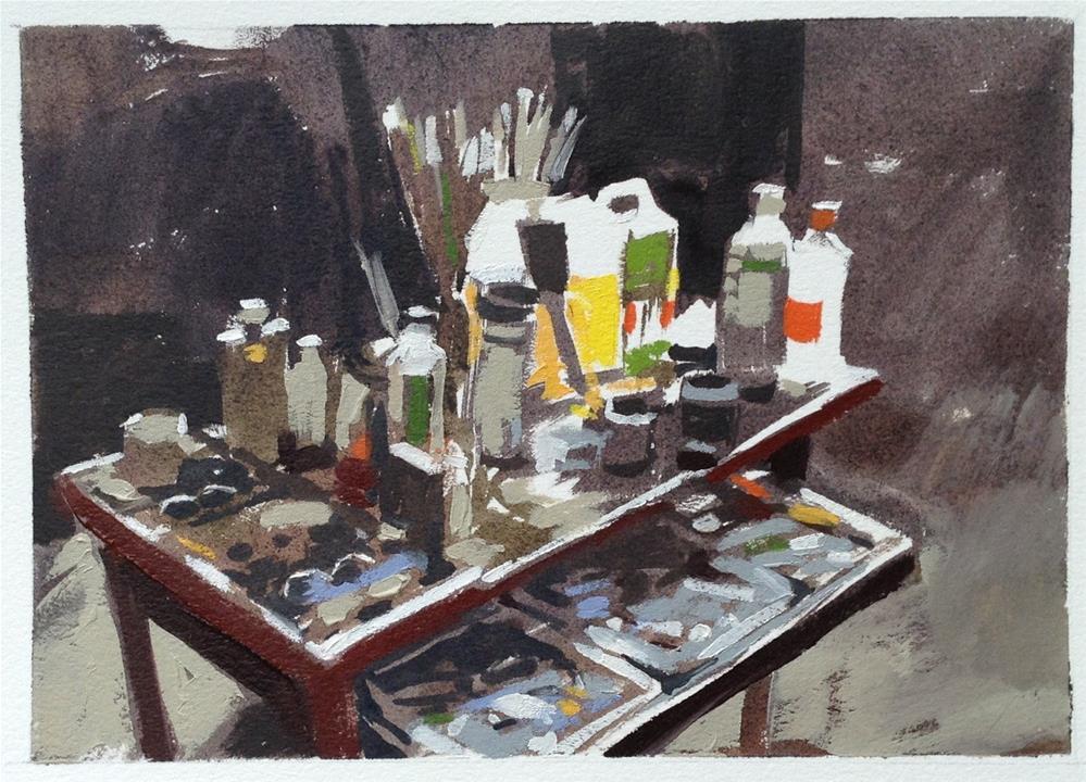 """St Clements studio"" original fine art by Haidee-Jo Summers ROI"