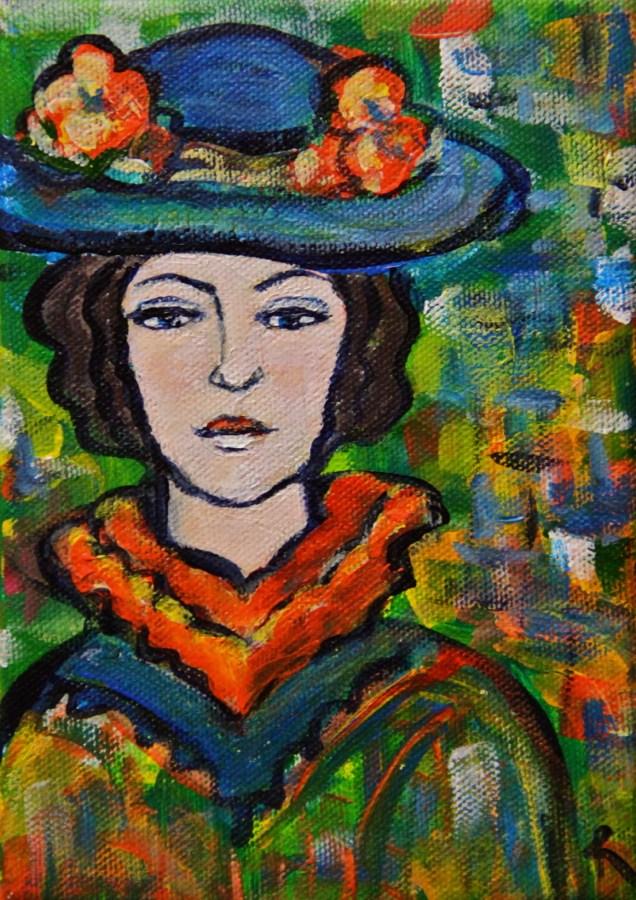 """Fleur"" original fine art by Roberta Schmidt"