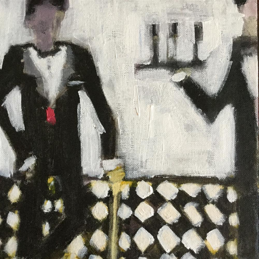 """""""Dinner for one please James..Madame will not be dining"""" original fine art by pamela kish"""