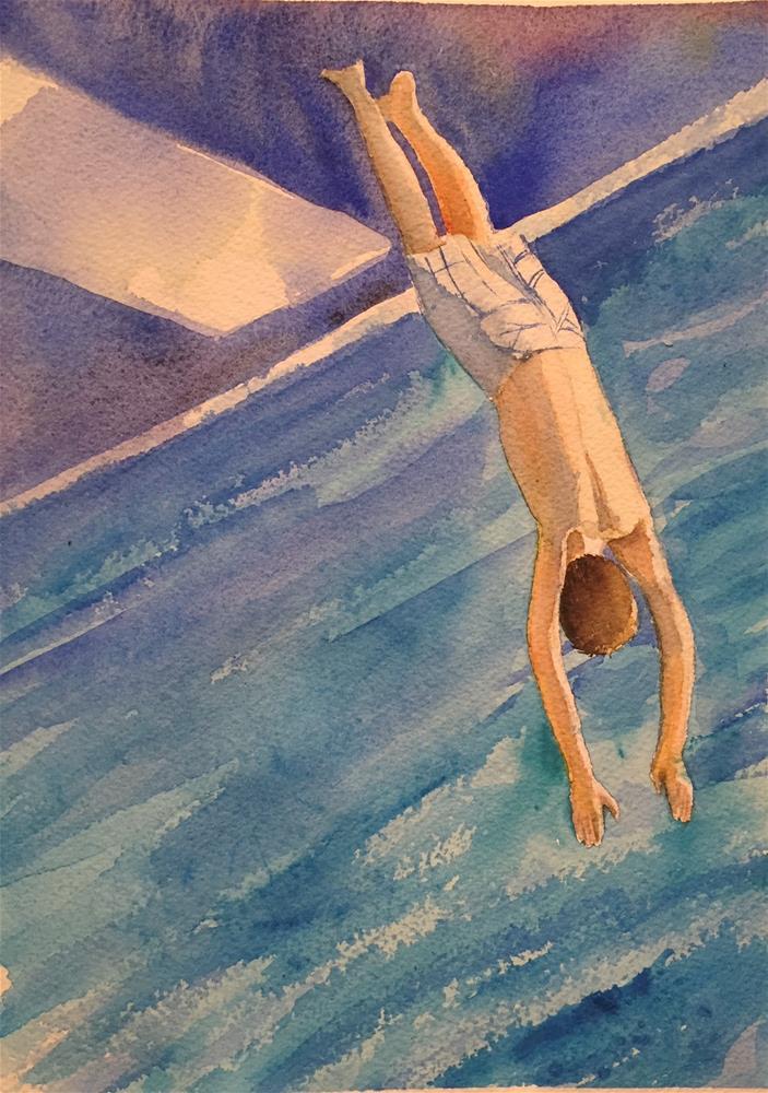 """Jump"" original fine art by Natasha Ramras"