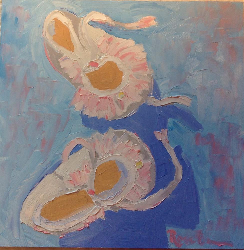 """Baby's Sunday Shoes"" original fine art by Rose Brenner"