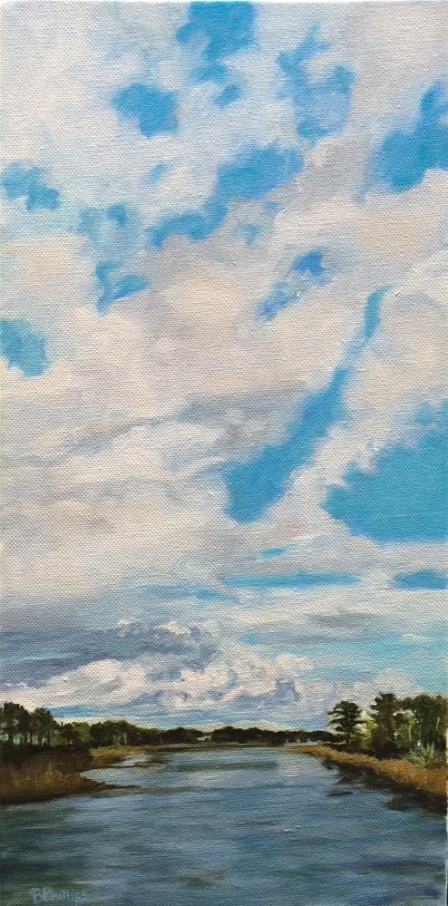 """River of clouds"" original fine art by Beverley Phillips"