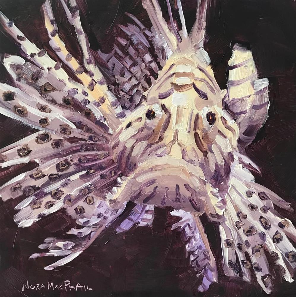 """Mr. Lionfish"" original fine art by Nora MacPhail"