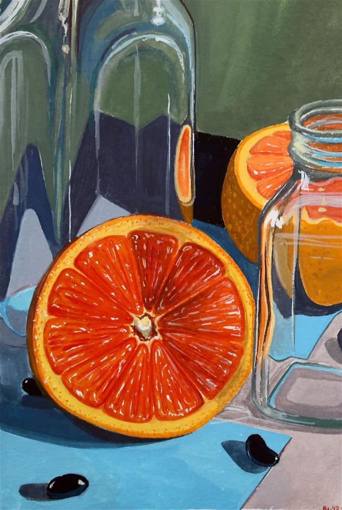 """""""Oranges and Jelly Beans"""" original fine art by Brandy Woodford"""