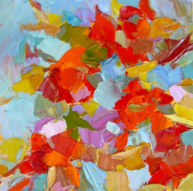 """Palette Knife Painting"" original fine art by Mary Sheehan Winn"