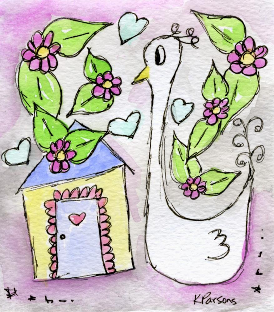 """""""A Funny Thing Happened on the way to the Chicken Coop"""" original fine art by Kali Parsons"""
