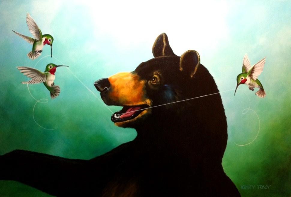 """""""FLOSS FRIENDS"""" original fine art by Kristy Tracy"""