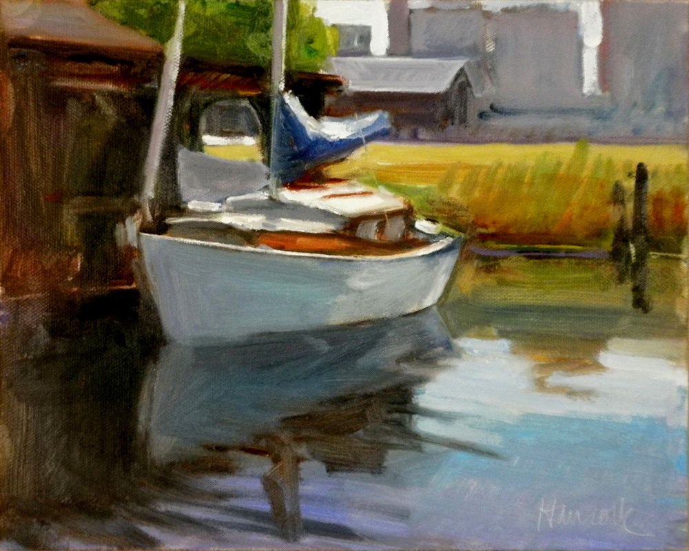 """Center for Wooden Boats"" original fine art by Gretchen Hancock"
