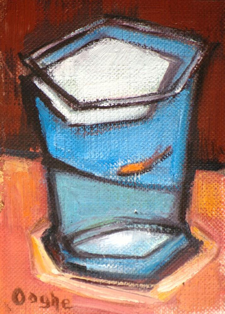 """""""One Goldfish ACEO"""" original fine art by Angela Ooghe"""
