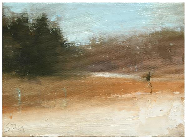 """""""Last snow (on the fields)"""" original fine art by Steven Goodman"""