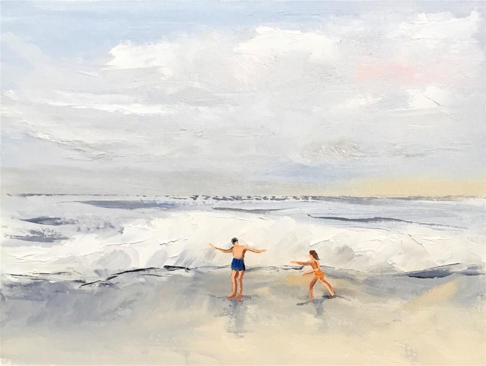 """The Fun Begins 2"" original fine art by Patty Barnes"