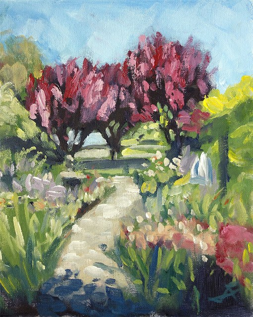 """Garden Path"" original fine art by J. Farnsworth"