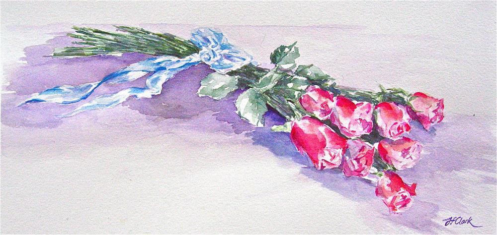 """Tribute with Roses"" original fine art by Judith Freeman Clark"