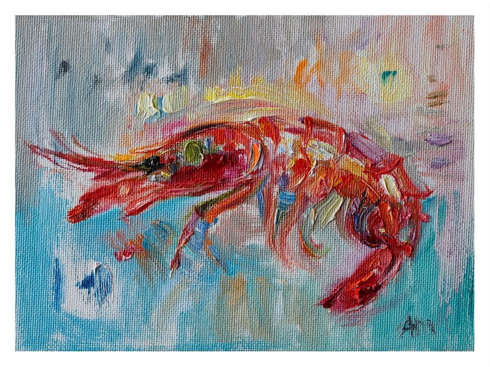 """""""Red Prawn"""" original fine art by Anna Fine Art"""