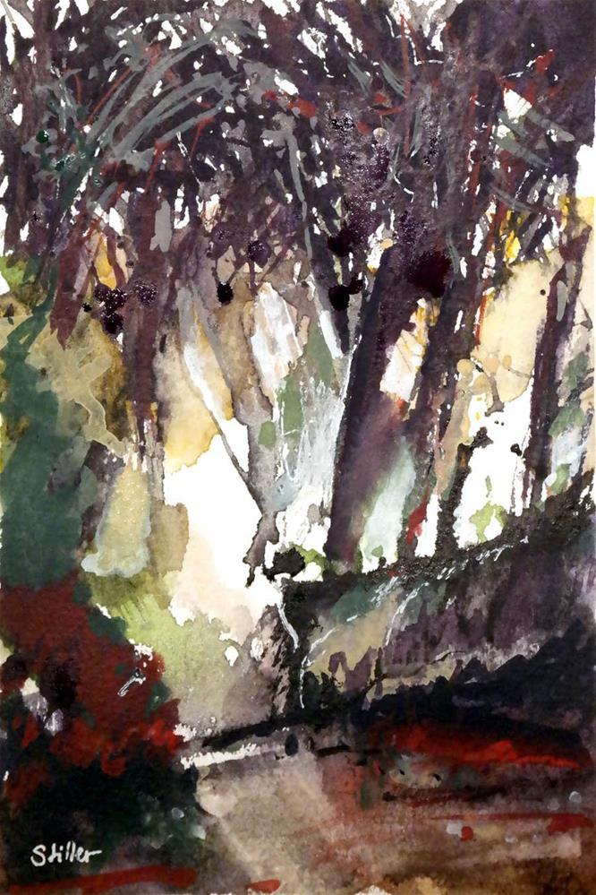 """""""3031 Fall Forest 05"""" original fine art by Dietmar Stiller"""