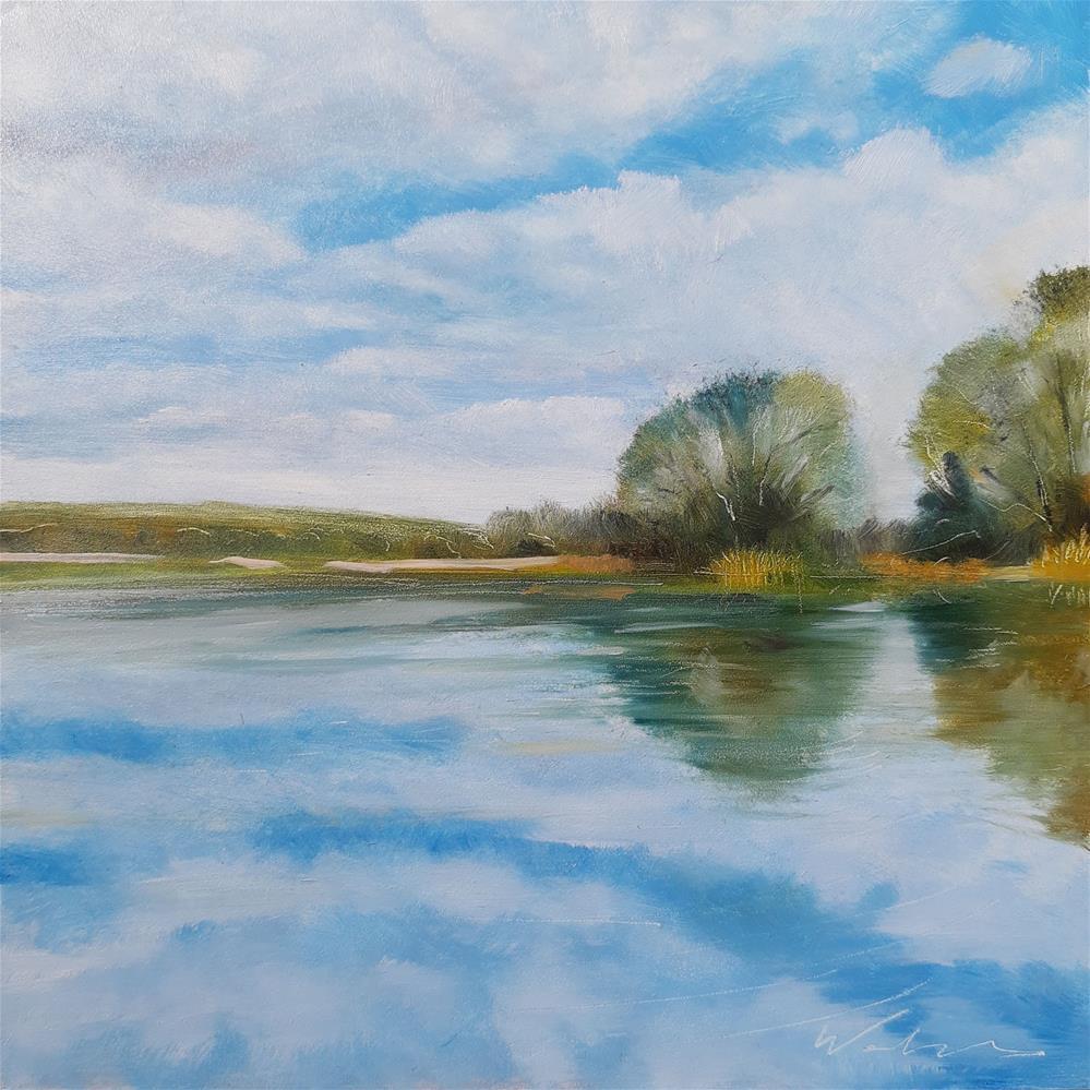 """""""The Sky Below"""" original fine art by Wolfango Chiappella"""