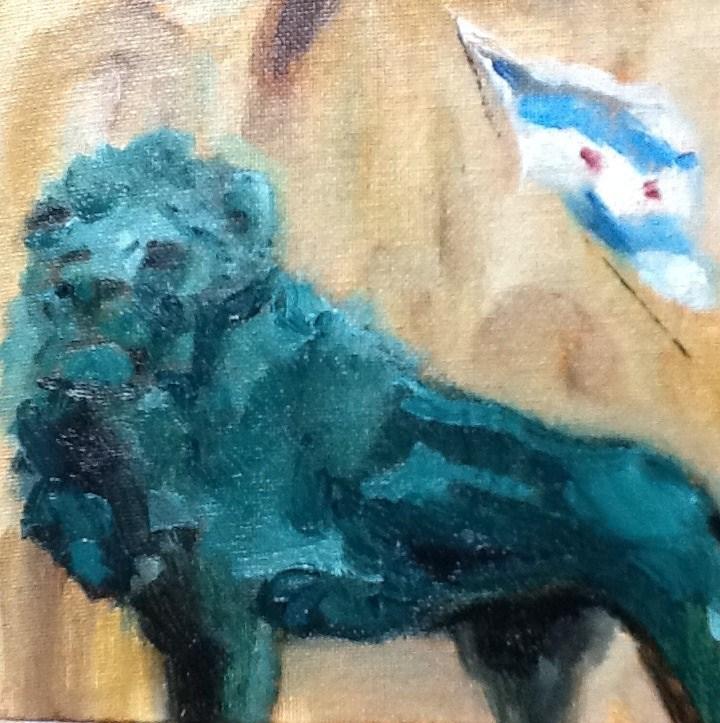 """Mighty Roar"" original fine art by Peggy Schumm"
