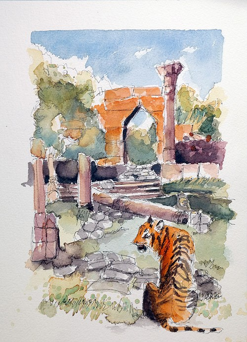 """2554 Tiger Lilly"" original fine art by Dietmar Stiller"
