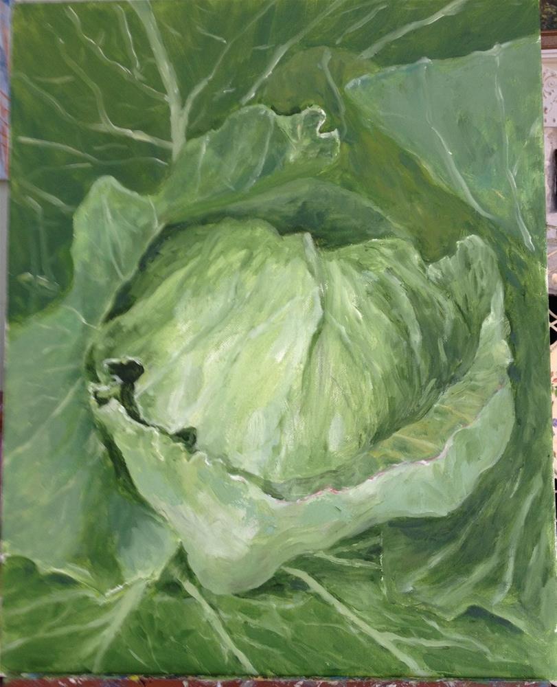 """""""Edible Green"""" original fine art by Lucy Hammett"""