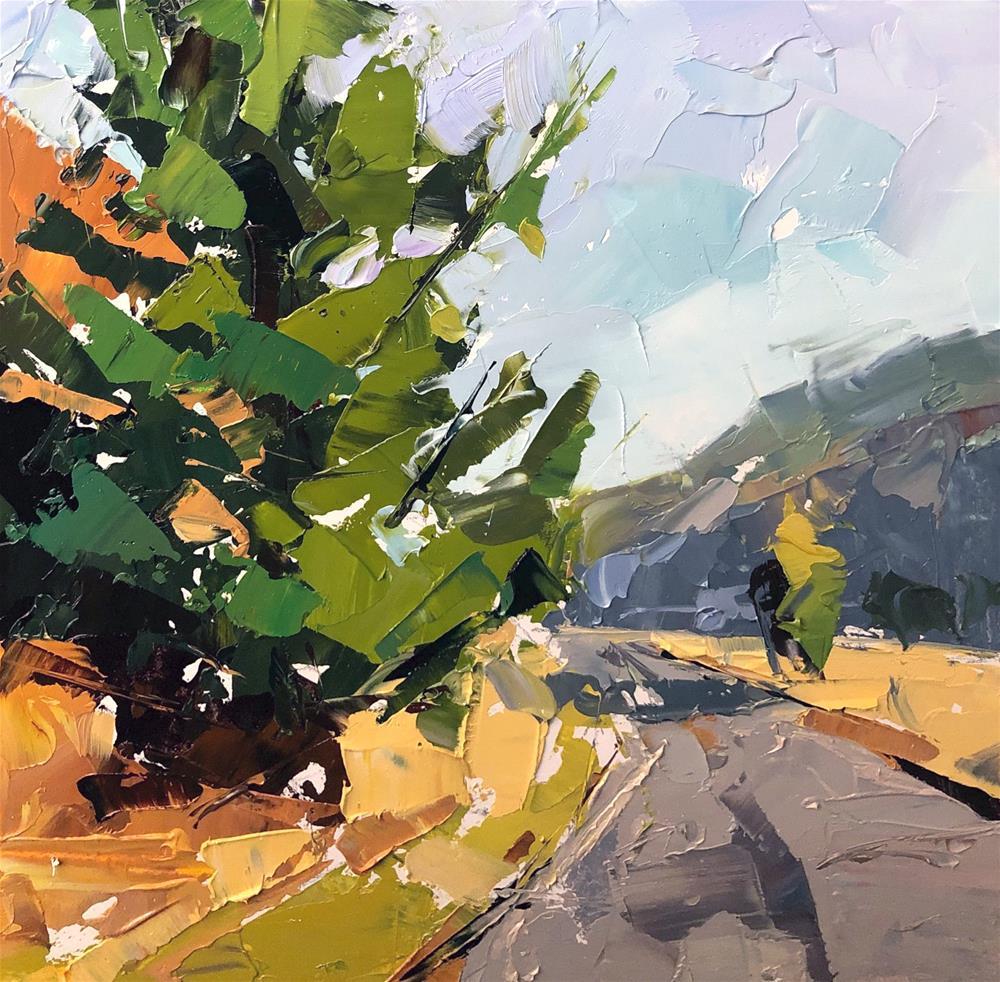 """""""Palette Knife Oregon Tree"""" original fine art by Cathleen Rehfeld"""