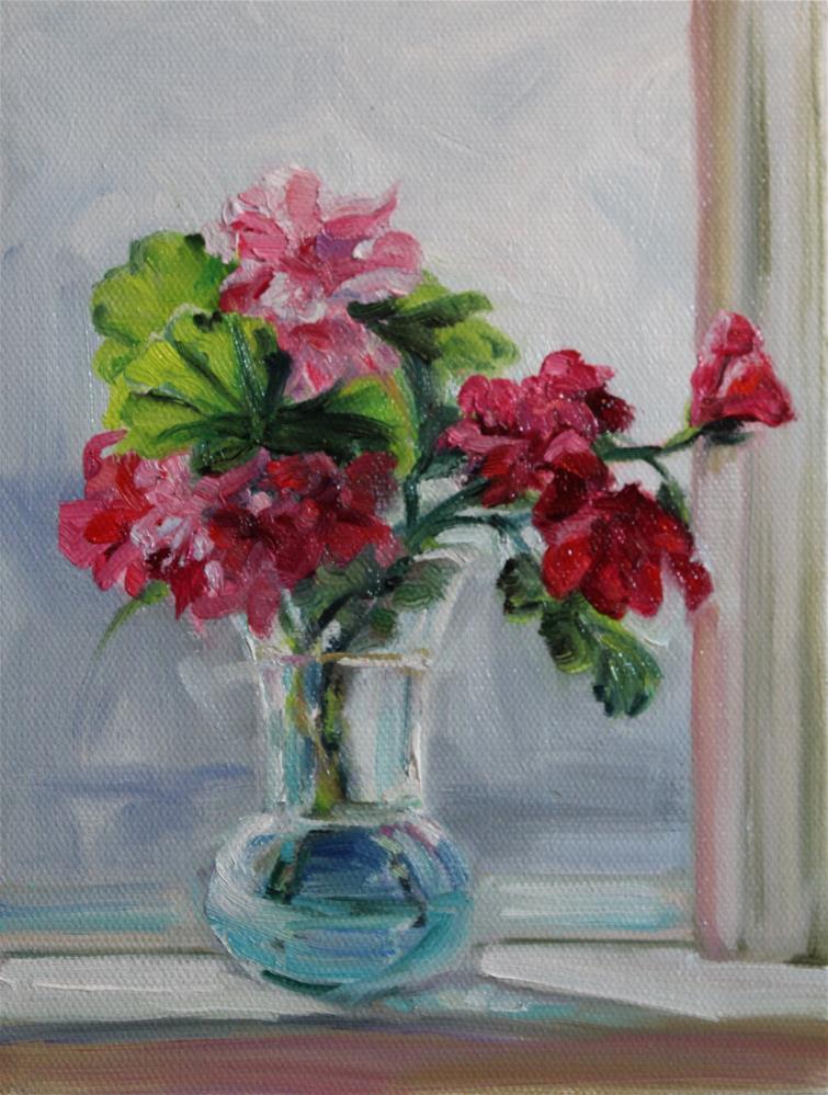 """""""Geranium clippings 2"""" original fine art by H.F. Wallen"""