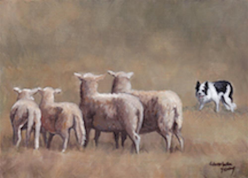 """""""Keeper of the Sheep"""" original fine art by Charlotte Yealey"""