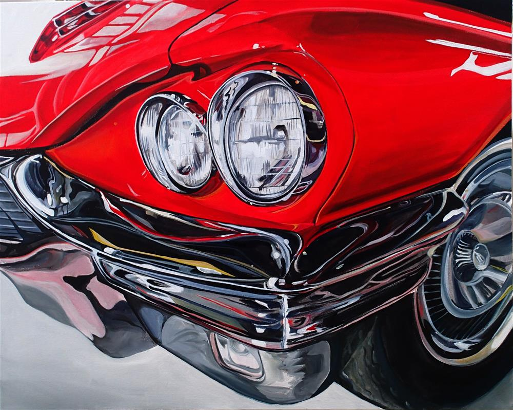 """The 1964-66 Thunderbird"" original fine art by Lauren Kuhn"