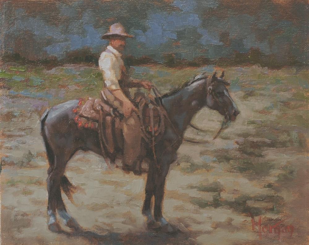 """Wrangler Memories #19"" original fine art by Cecile W. Morgan"